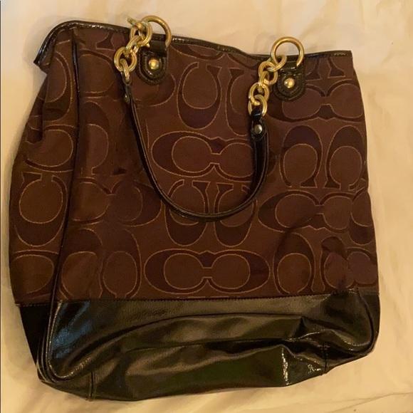 Coach Handbags - Coach purse pushlock Poppy Lurex tote